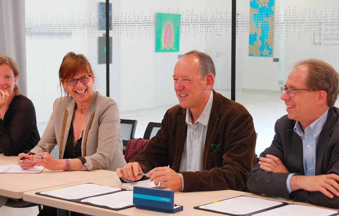 Claire Herzog, Sophie Layé, Christophe Mulle et Samuel Weiss