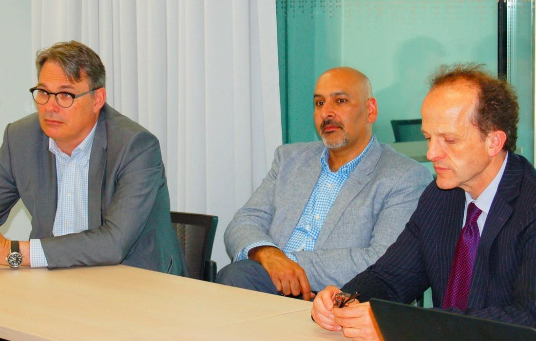 Stéphane Oliet, Jaideep Bains et Vincent Dousset - Photo Claire Guyot