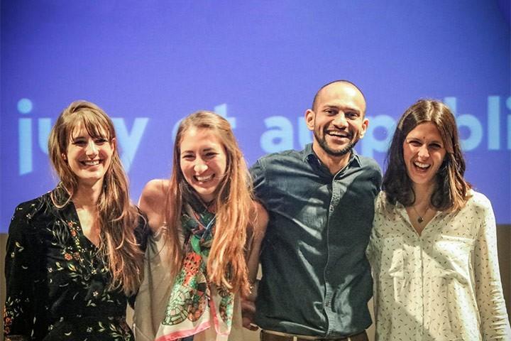 De g. à d. : Leah Vandeveer, Ashley Castellanos, Barghav Nallapu, Sophie Dupont © UBM