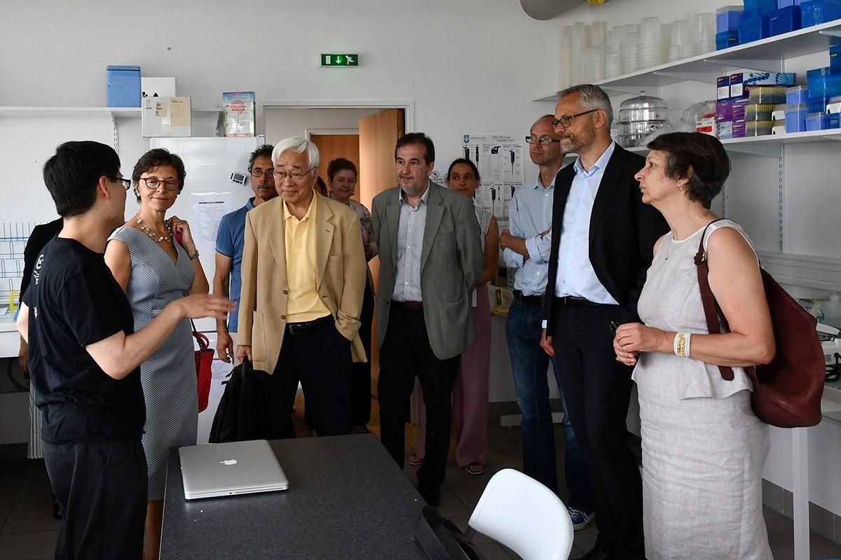 Inauguration des nouveaux locaux de l'école des neurosciences