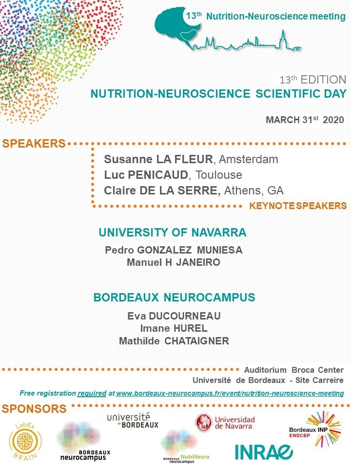 Program 13th Nutrition Neuroscience day 2020 - visuel