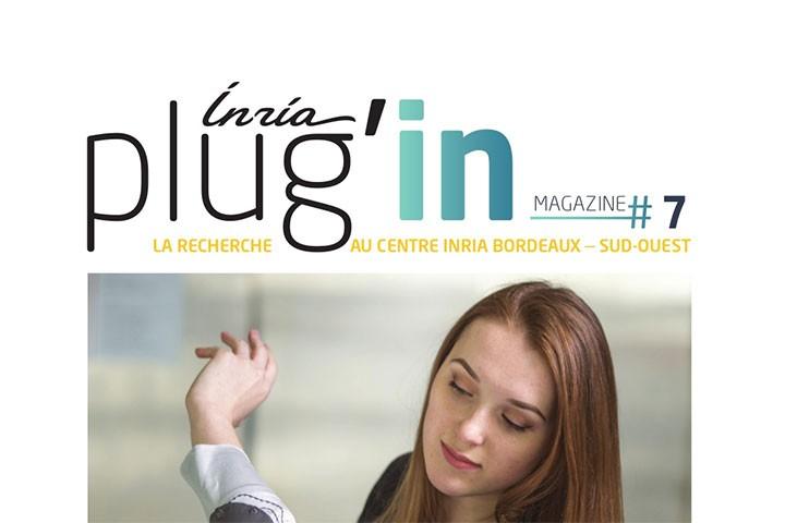 """Nicolas Rougier dans """"Plug'in"""", le magazine de l'INIRA Nouvelle-Aquitaine"""