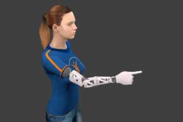 Contrôle biomimétique d'une prothèse de bras à partir de mouvements naturels